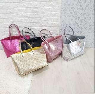 VICTORIA'S SECRET shopper bag + pouch - NEGO (PO max. 7hari)