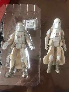 兩隻Hasbro Star Wars Black Series Snowtrooper EP5 改裝重塗