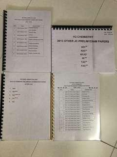 CHEAP HARDCOPY VJC H2 Chemistry Prelim Papers Assorted 2009-2013