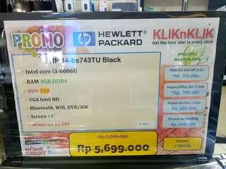 Dijual Laptop HP 14-BS743TU Bisa Cicilan Tanpa Kartu Kredit