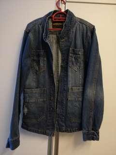 Denim Jacket men high quality can nego