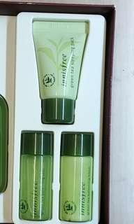 1set 3枝=$30 Innisfree The green tea seed sleeping pack 10ml + green tea balacncing skin 15ml + green tea balancing lotion 15ml (可散買)