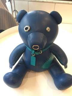 "Coach Leather Heritage Craftsmanship Bear-""Ace"""