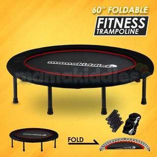 Mamakiddies 60 Inch Foldable  Adult Large Trampoline Rebounder Exercise 130kg