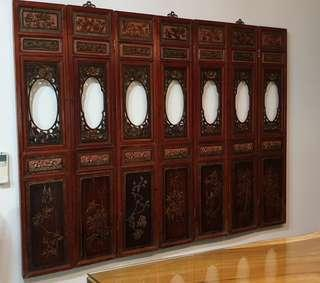 Vintage Chinese Old Wood Screen