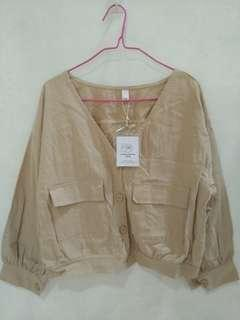 Outer nude brown all size fit to L