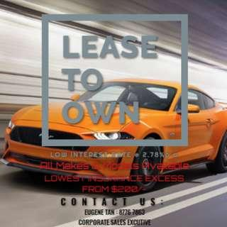 LEASE TO OWN (All Makes & Models)
