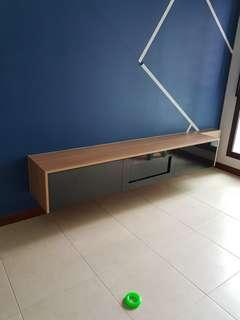 Customised TV Console / Please provide size for quote