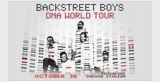 🚚 CAT 1 BACKSTREET BOYS LIVE CONCERT TIX - DNA WORLD TOUR (while stocks last!)