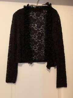 New black lace top coat