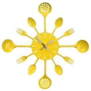 🚚 Large Yellow Kitchen Clock