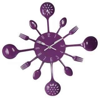 🚚 Large Purple Kitchen Clock