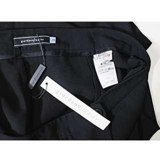 全新 giordano ladies 黑色寬管長褲裙