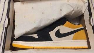 全新有單 Us 8.5 Air Jordan 1 Low 黃腳趾 Yellow toe