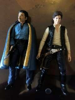 Han Solo + Lando Calrissian Black Series