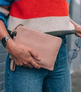 Status Anxiety Fixation Leather Clutch