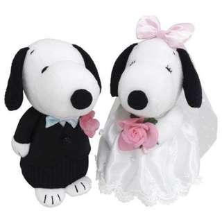 (日本代購) 日本直送Peanuts Snoopy Wedding Dolls 史努比結婚公仔