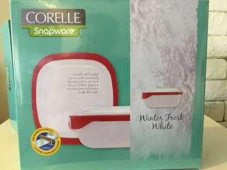 Corella Snapware Rectangular Serve & Store - 2sets of 1.4L & 1set of 1L