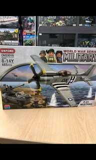 Oxford P-51 Mustang (OM33018) , Lego compatible.