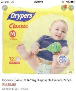 Drypers Classic M Size