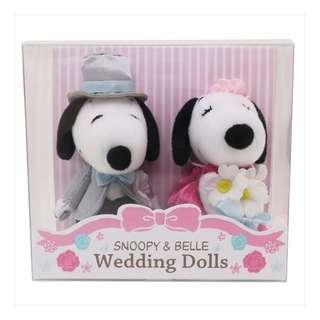 (日本代購) Peanuts Snoopy Wedding Dolls 史努比 結婚公仔 (迷你)