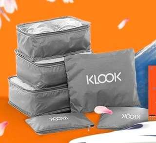 Klook 6 pieces travel cube set