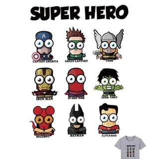 Cute Cartoon Superheroes Iron on Patches with Avengers and justice league batman superman