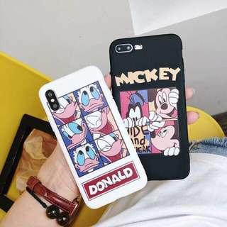 PRELOVED CASE IPHONE 7/8 ONLY (MICKEY MOUSE & DONALD)