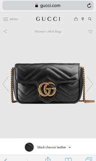 🚚 全新正品Gucci Mormont mini 黑色