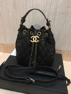READY Chanel quilt drawstring authentic makeup counter vip gift