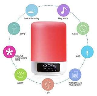 digital colorful led light touch bluetooth speaker