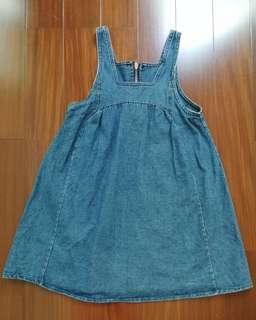 Pinafore Jeans Dress (Size 7)