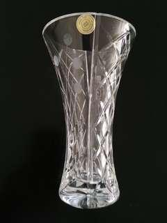 "Bohemia Crystal Vase Hand Cut 24% PbO from Czech Republic 7"" tall"