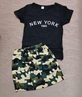 Baby Girl T Shirt Skirt Set