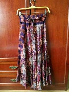 Purple Beach Easy Travel Full Length Skirt #SnapEndGame