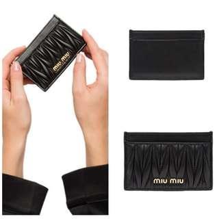 Brand new Authentic Miu miu credit card holder Black Blue