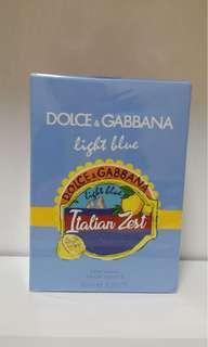 2018夏季限量版Light Blue Italian Zest男士香水