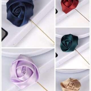 🚚 Satin Flower Lapel Pin