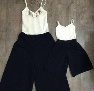 Mom and daughter jumpsuit