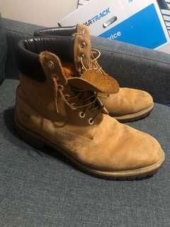 Tan Timberland Boots size 10