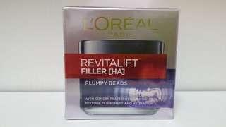 活力緊緻透明質酸充盈導入二合一面膜晚霜 L'Oréal REVITALIFT FILLER[HA] PLUMPY BEADS MASK CREAM