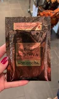全新GODIVA 可可粉/牛奶巧克力粉隨身包