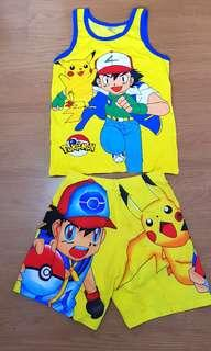 Pokemon sleeveless and shorts