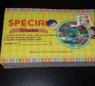 Tiket masuk Joy n Fun Feslink lt. 3A