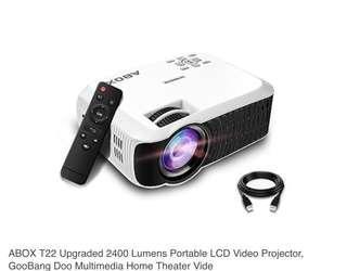 🚚 LED Projector ABOX 2400 Lumens