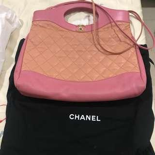 Chanel Fall/Winter 2018  全新香奈兒31包 稀有顏色 香奈兒 RARE Chanel 31 Large Shopping Tote in Pink Beige
