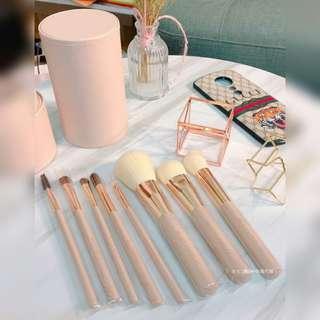 超美 粉裸色八件刷具組