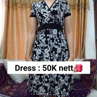 Dress Kimono Black N White