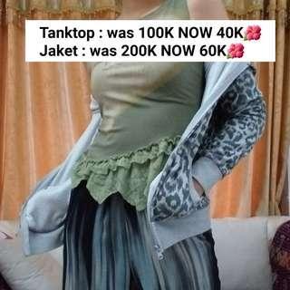 Tanktop Army & Jaket Motif Macan