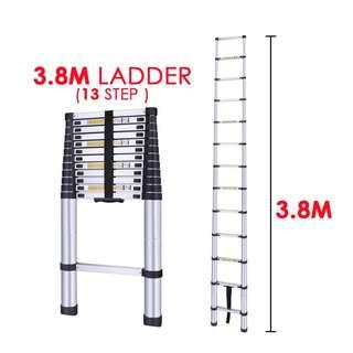 High Quality 3.8M (12ft) 13 Steps Aluminium Extendable Ladder